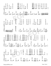Jingle Bells-Jazz Version-Numbered-Musical-Notation-Preview-2