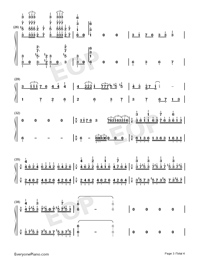Jingle Bells-Jazz Version-Numbered-Musical-Notation-Preview-3
