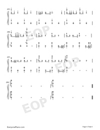 Jingle Bells-Jazz Version-Numbered-Musical-Notation-Preview-4