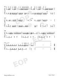 The Taste of Love-JJ Lin Numbered Musical Notation Preview 4