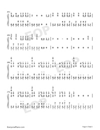 Bad Guy-Billie Eilish-Numbered-Musical-Notation-Preview-4
