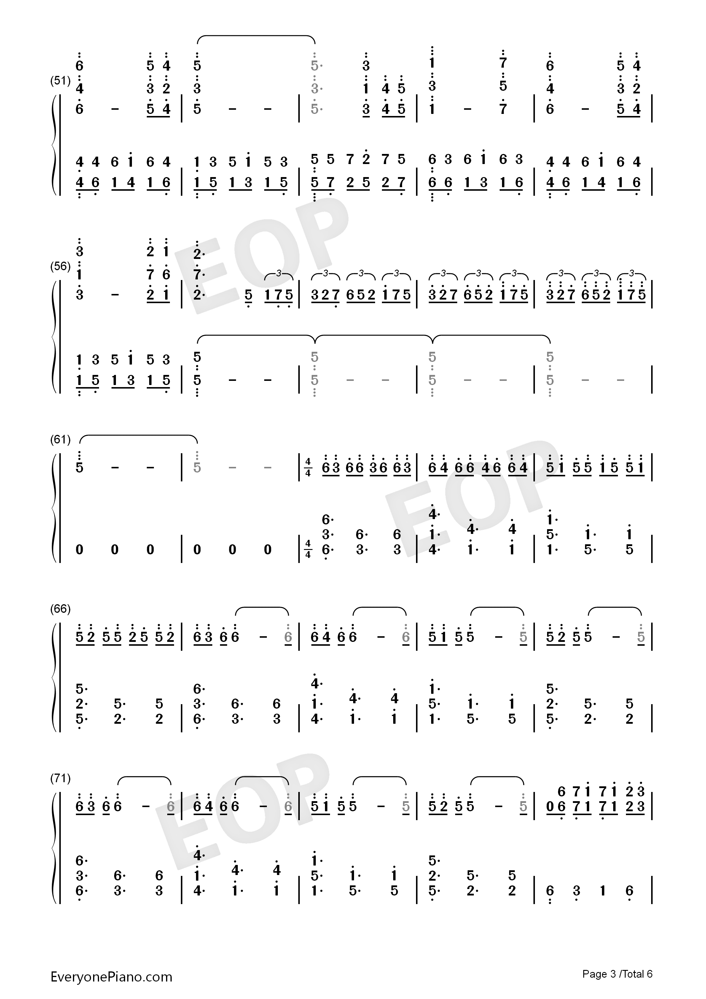 All of Me-Maksim Mrvica Numbered Musical Notation Preview 3