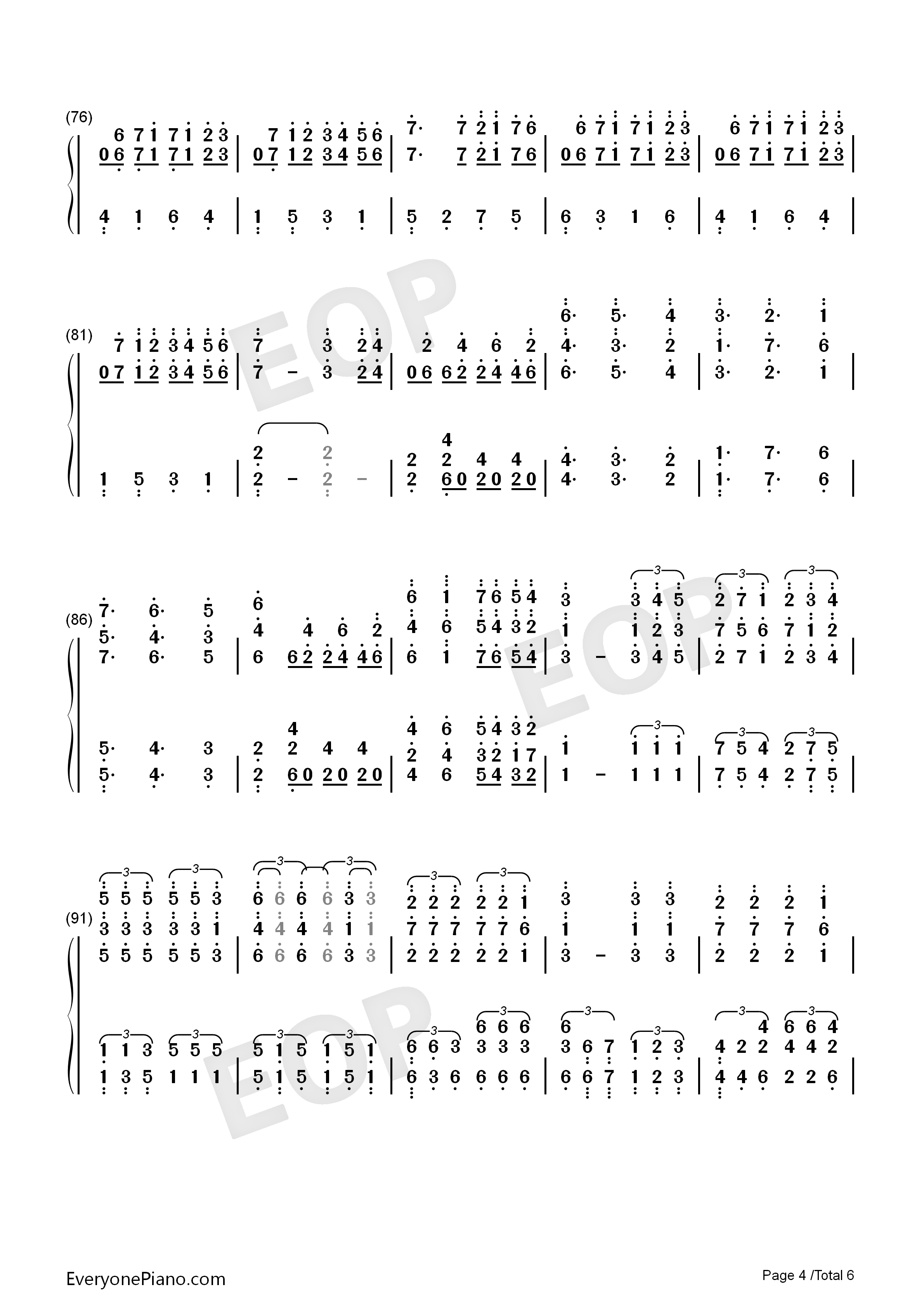 All of Me-Maksim Mrvica Numbered Musical Notation Preview 4