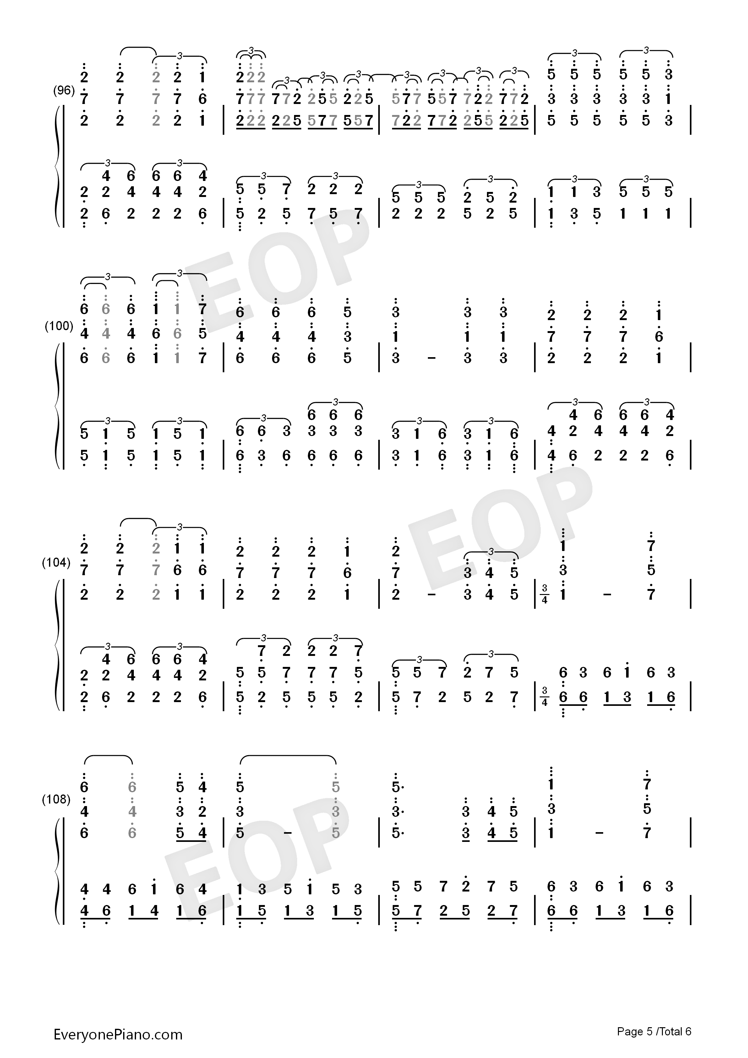 All of Me-Maksim Mrvica Numbered Musical Notation Preview 5