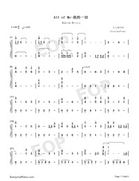 All of Me-Maksim Mrvica Numbered Musical Notation Preview 1