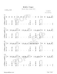 Middle Finger-Phoebe Ryan ft Quinn XCII-Numbered-Musical-Notation-Preview-1