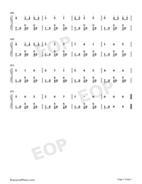 Twinkle Twinkle Little Star-Triple Version-Numbered-Musical-Notation-Preview-3