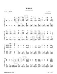 Gokuraku Joudo-Combination Version-Numbered-Musical-Notation-Preview-1