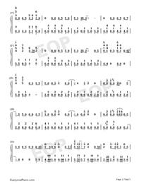 Gokuraku Joudo-Combination Version-Numbered-Musical-Notation-Preview-2