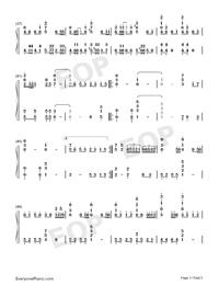 Gokuraku Joudo-Combination Version-Numbered-Musical-Notation-Preview-3