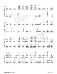Gokuraku Joudo-Combination Version-Numbered-Musical-Notation-Preview-4