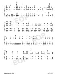 Gokuraku Joudo-Combination Version-Numbered-Musical-Notation-Preview-5