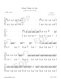 River Flows in You-Anniversary Version Numbered Musical Notation Preview 1