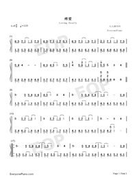 Loving Dearly-Jam Hsiao-Numbered-Musical-Notation-Preview-1