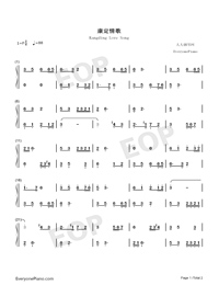 Kangding Love Song-Numbered-Musical-Notation-Preview-1