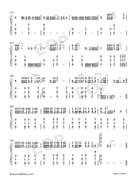 Love Is Like A Tide-Richard Clayderman-Numbered-Musical-Notation-Preview-2