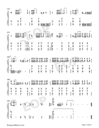 Love Is Like A Tide-Richard Clayderman-Numbered-Musical-Notation-Preview-3