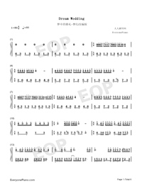 Dream Wedding Adapted Version-Mariage d'amour Numbered Musical Notation Preview 1