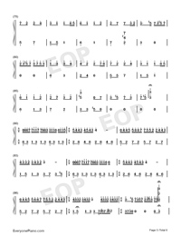 Dream Wedding Adapted Version-Mariage d'amour Numbered Musical Notation Preview 5