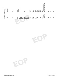 Dream Wedding Adapted Version-Mariage d'amour Numbered Musical Notation Preview 6