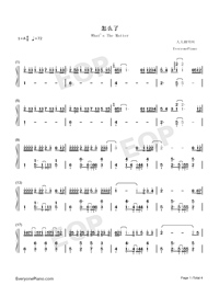 What Is The Matter Numbered Musical Notation Preview 1