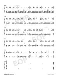 What Is The Matter Numbered Musical Notation Preview 4