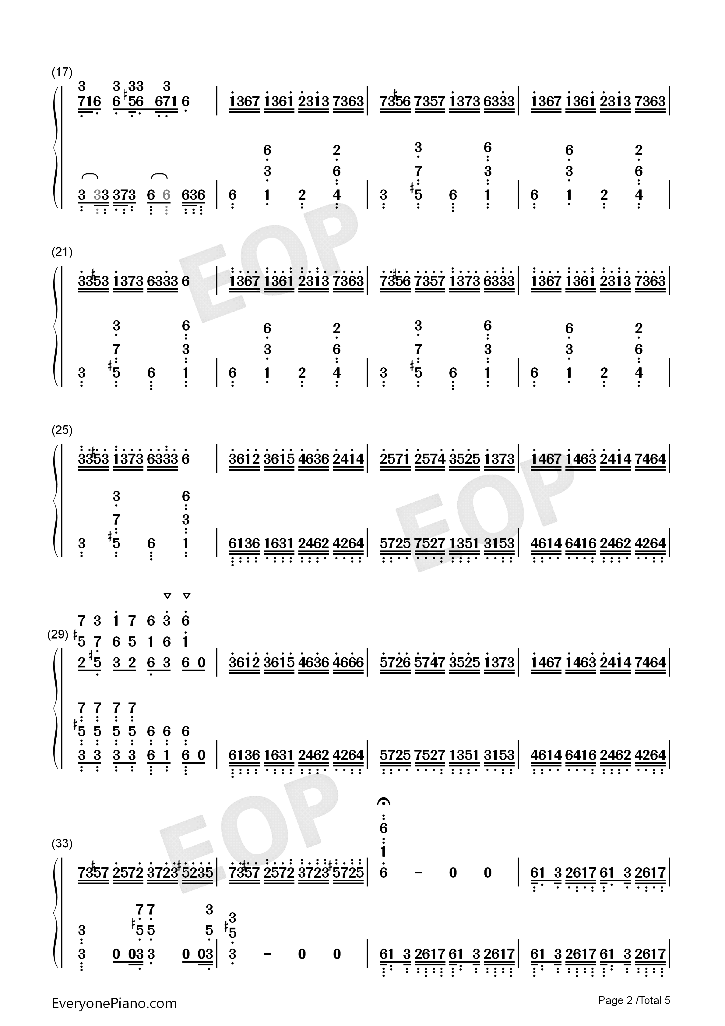 Croatian Rhapsody-Perfect Version Numbered Musical Notation Preview 2
