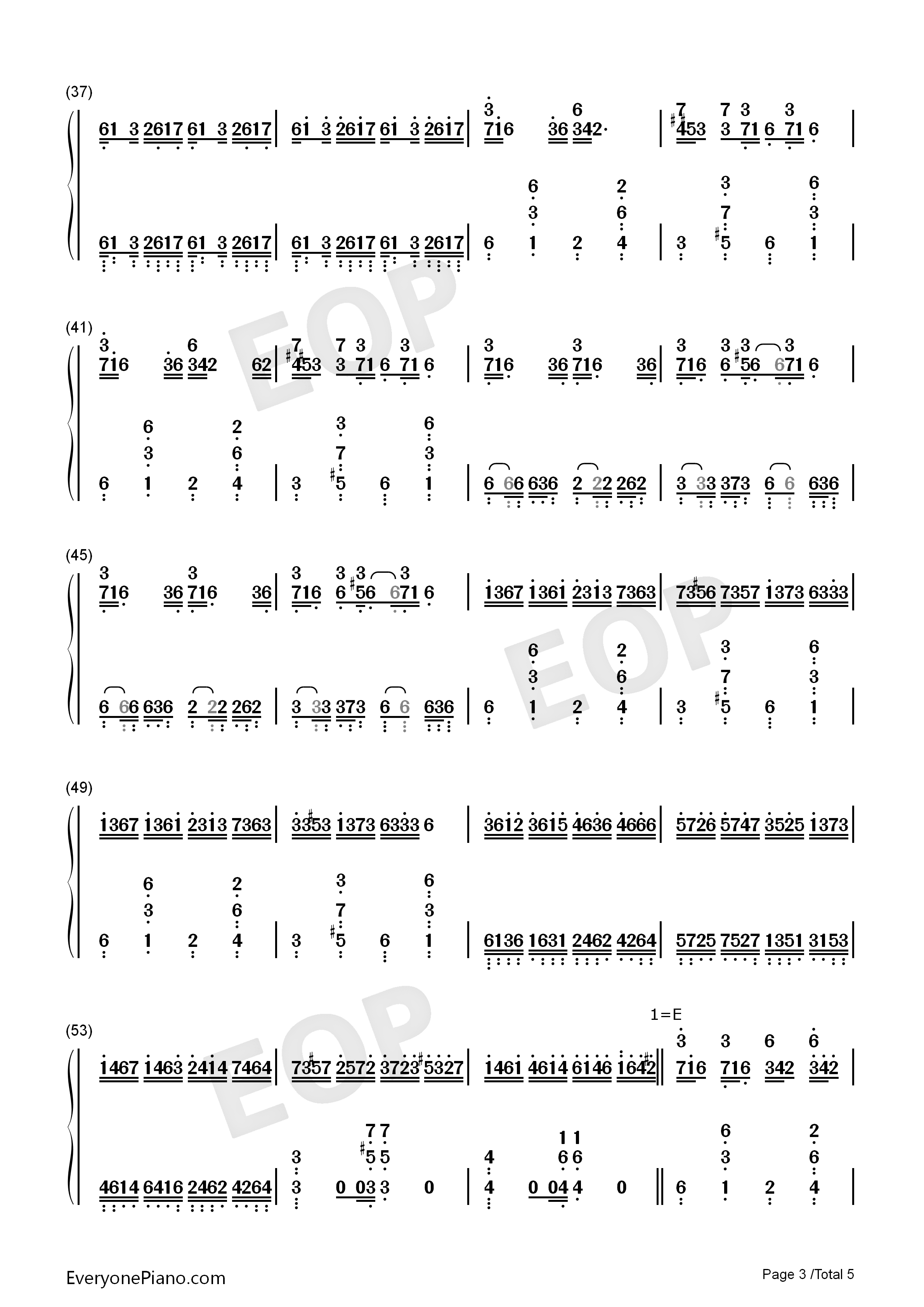 Croatian Rhapsody-Perfect Version Numbered Musical Notation Preview 3