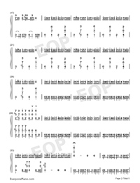Croatian Rhapsody-Perfect Version-Numbered-Musical-Notation-Preview-2