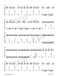Croatian Rhapsody-Perfect Version-Numbered-Musical-Notation-Preview-4