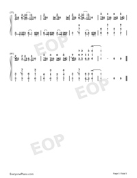 Croatian Rhapsody-Perfect Version Numbered Musical Notation Preview 5