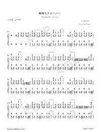 春待ちクローバー-One Room ED1両手略譜プレビュー1
