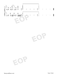 Harumachi Clover-One Room ED1-Numbered-Musical-Notation-Preview-2