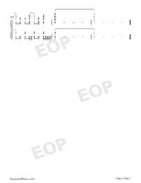 春待ちクローバー-One Room ED1両手略譜プレビュー2