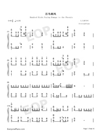 Hundred Birds Paying Homage to the Phoenix-Numbered-Musical-Notation-Preview-1