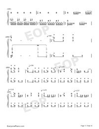 Hundred Birds Paying Homage to the Phoenix-Numbered-Musical-Notation-Preview-11