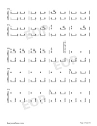 Hundred Birds Paying Homage to the Phoenix-Numbered-Musical-Notation-Preview-5