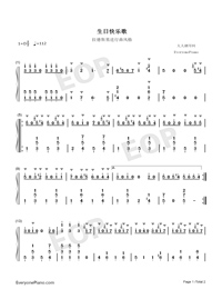 Happy Birthday to You-Style for Radetzky Marsch Numbered Musical Notation Preview 1