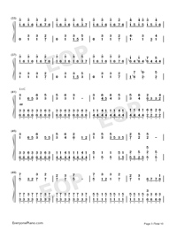 I Want My Tears Back-Nightwish Numbered Musical Notation Preview 3
