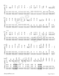 I Want My Tears Back-Nightwish Numbered Musical Notation Preview 6