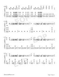 I Want My Tears Back-Nightwish-Numbered-Musical-Notation-Preview-7
