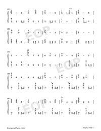 Lucky Ending-Fruits Basket ED-Numbered-Musical-Notation-Preview-2