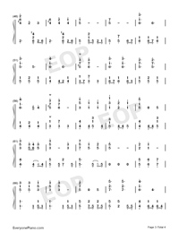 Lucky Ending-Fruits Basket ED-Numbered-Musical-Notation-Preview-3