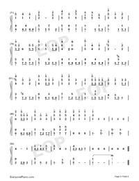Lucky Ending-Fruits Basket ED-Numbered-Musical-Notation-Preview-4