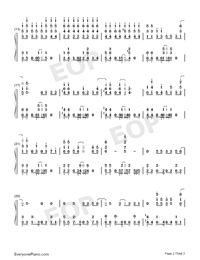 Wagamama-Domestic Girlfriend ED-Numbered-Musical-Notation-Preview-2