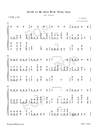 Drink to Me Only with Thine Eyes-Ben Jonson-Numbered-Musical-Notation-Preview-1