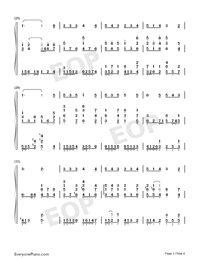Drink to Me Only with Thine Eyes-Ben Jonson-Numbered-Musical-Notation-Preview-3