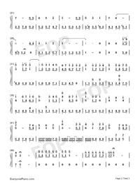 生日快樂-D大調變奏雙手簡譜預覽2