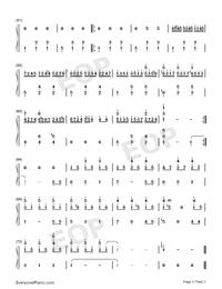 生日快樂-D大調變奏雙手簡譜預覽3