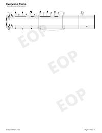 生日快樂-D大調變奏五線譜預覽4